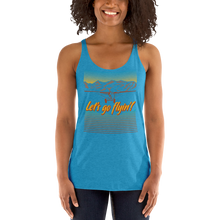 Load image into Gallery viewer, Let's Go Flying! Women's Racerback Tank