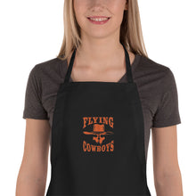 Load image into Gallery viewer, Embroidered Flying Cowboys Apron