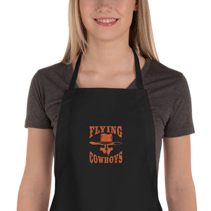 Embroidered Flying Cowboys Apron