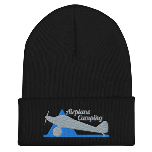 Airplane Camping Cuffed Beanie