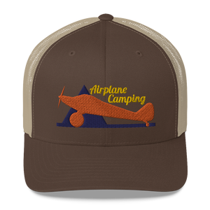 Airplane Camping Trucker Cap