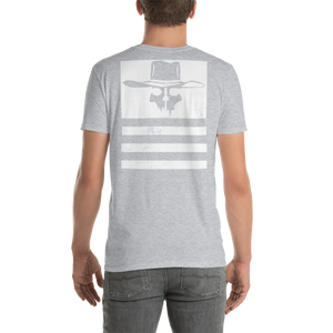 "Back Print Distressed Flying Cowboys ""Stripes"" T-Shirt"