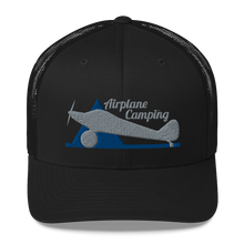 Load image into Gallery viewer, Airplane Camping Trucker Cap