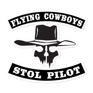 Sticker Flying Cowboys STOL Pilot