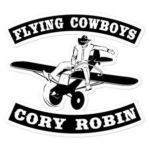 Cool Flying Cowboy Cory Robin Sticker BUY IT