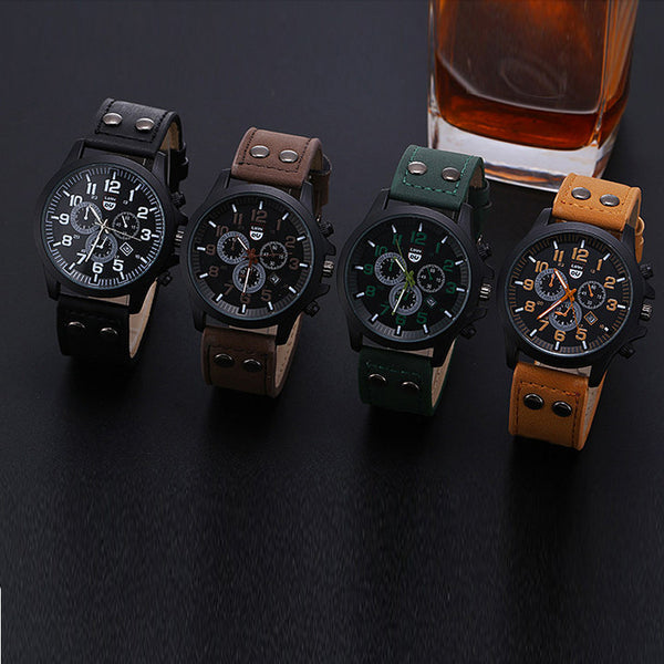 Quartz Men's Leather Watch