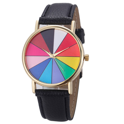 Geometry Leather Quartz Watch