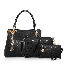 Load image into Gallery viewer, Little Sun Three pcs of a set Fashionable embossing female bags