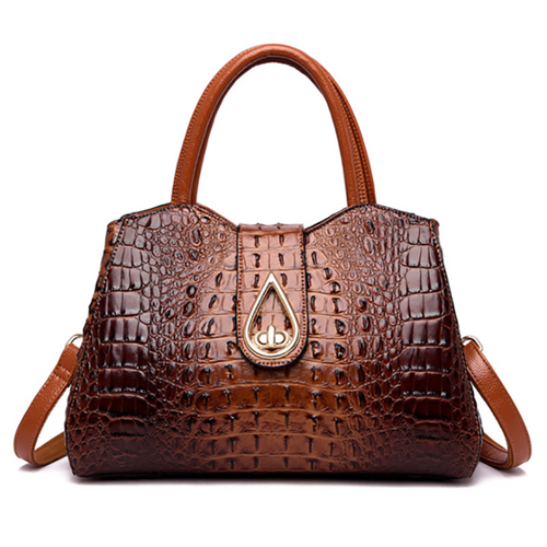 Vintage Fashion Crocodile Genuine Leather Luxury Handbags