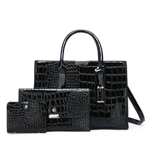 Load image into Gallery viewer, Alligator Leather Shoulder Bag with Free Clutch Wallet