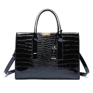 Alligator Leather Shoulder Bag with Free Clutch Wallet