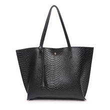 Load image into Gallery viewer, High Capacity Crocodile Embossed Tote Bag