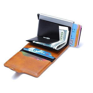 (Factory Outlet) RFID Blocking Vintage Business Safe Wallet