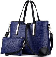 Load image into Gallery viewer, 2020 Fashion Crocodile Embossed Leather Tote Bags with Free Wallet