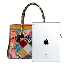 Load image into Gallery viewer, Colorful Leather Stitching Handbag Shoulder Bag