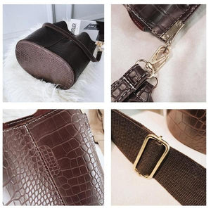 Crocodile Bucket Bag - Coco & Nevis travel summer beach wear clothes accessories jewelry jewellery