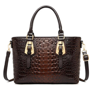 2020 Crocodile Embossed High Quality Leather Handbag