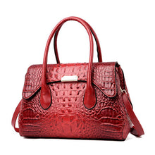 Load image into Gallery viewer, 2020 New Crocodile Embossed Leather Fashion Large Capacity Handbag