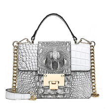 Load image into Gallery viewer, 3D Crocodile Pattern Ladies Casual Chain Tote Handbag