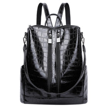 Load image into Gallery viewer, Vintage Crocodile Embossed Classic Anti-theft Backpack Ladies Mochilas