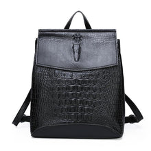 Load image into Gallery viewer, Fashion Lady High Quality Backpack Women Crocodile Pu Leather Female Backpacks Mochila Feminina Rucksack Mochilas Mujer 2020