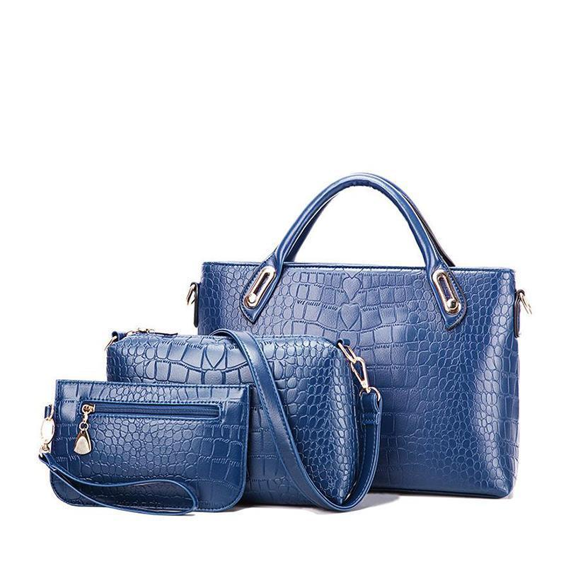 New European and American crocodile pattern mother bag generous wild bag - onekfashion