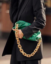 Load image into Gallery viewer, Phoenixswan Women 2020 Pure Leather Handbag the Pouch Bag Chain Bag Clutch Bag green