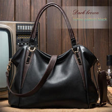 Load image into Gallery viewer, Vintage Luxury Leather Crossbody Tote