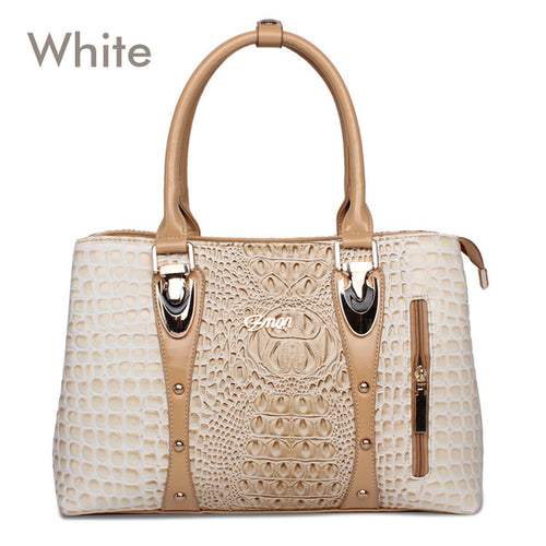 2020 Fashion Luxury Crocodile Leather Tote Bags