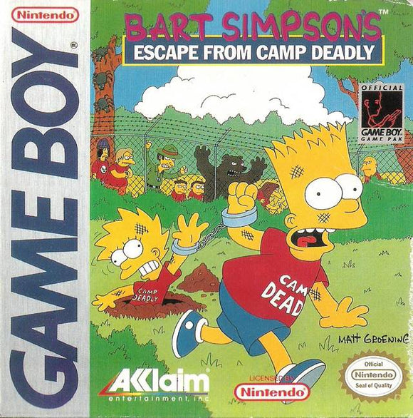Bart Simpson's Escape from Camp Deadly Game Boy