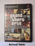Grand Theft Auto San Andreas front of case.