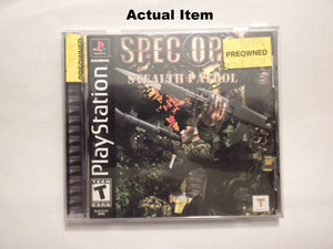 Spec Ops Stealth Patrol PS1