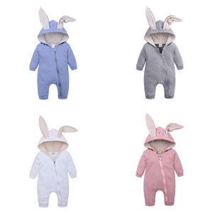Spring Autumn Newborn Baby Clothes Bunny Baby Rompers Cotton Hoodie Newborn Girl Onesies Fashion Infant Costume Boys Outfits - Jala & Noor Unique Gardening and Home Products