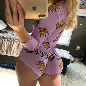 Long Sleeve Women Pajamas Onesie for Adults Sleepwear Pijama Sexy Mujer Onsies Bodysuits Christmas Women's Jumpsuit Home Clothes - Jala & Noor Unique Gardening and Home Products