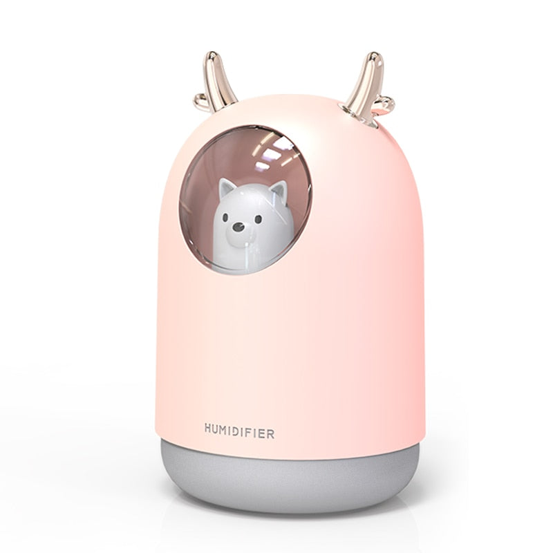 300ml Cute Husky Humidifier - Jala & Noor Unique Gardening and Home Products