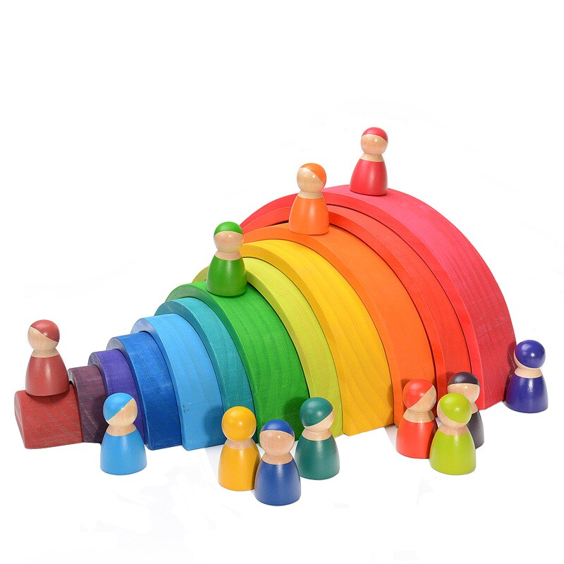 Assorted Montessori Building Blocks - Rainbow, People, and More - Jala & Noor Unique Gardening and Home Products
