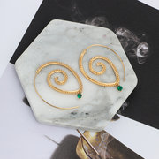 Mandala Spiral Earrings - Jala & Noor Unique Gardening and Home Products