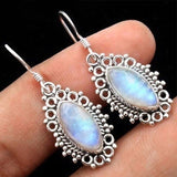 Vintage Geometric Moonstone Earrings - Jala & Noor Unique Gardening and Home Products