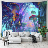 Psychedelic Fae Kingdom Tapestry - Jala & Noor Unique Gardening and Home Products