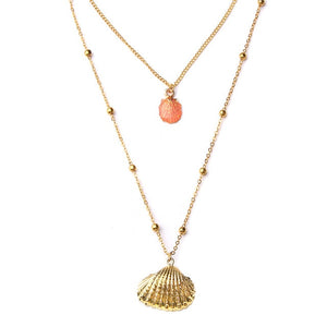 Bohemia  SeaShel Necklace Cowrie - Jala & Noor Internationally sourced Arabic and Islamic goods