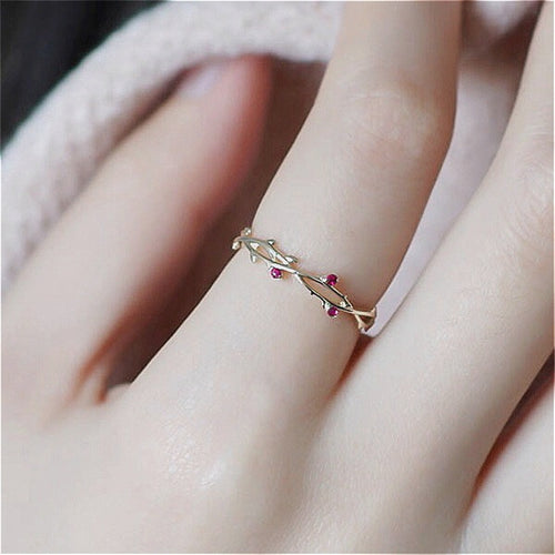 CUTE DAINTY BRANCH RING - Jala & Noor Unique Gardening and Home Products