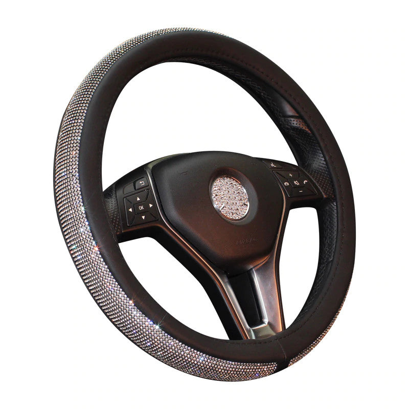 Swarovski-grade Crystal Steering Wheel Cover