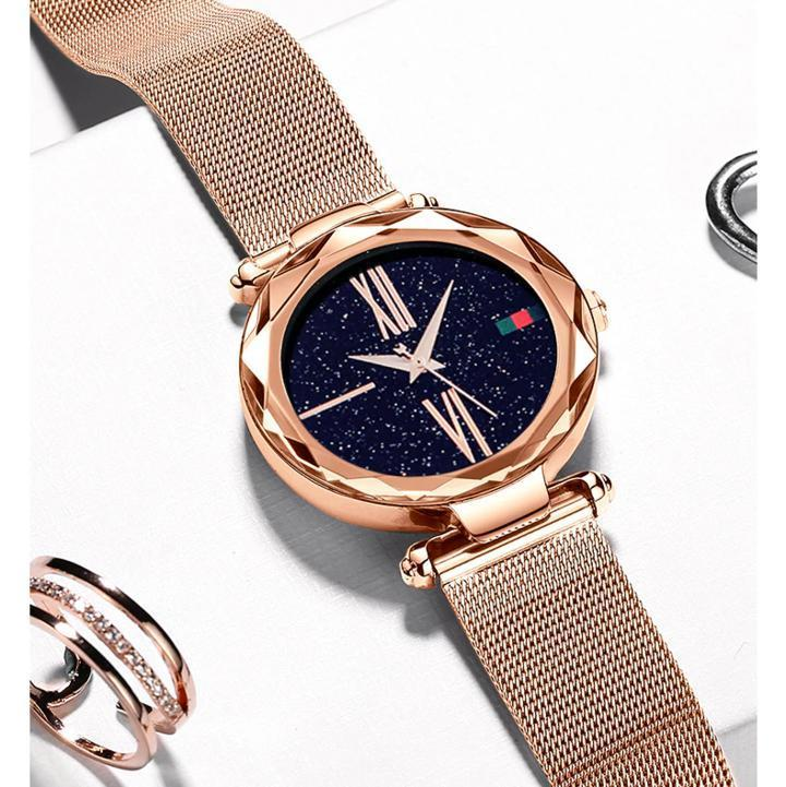 Starry Night Magnetic Watch-Rose Gold - FREE SHIPPING-YouniGoods
