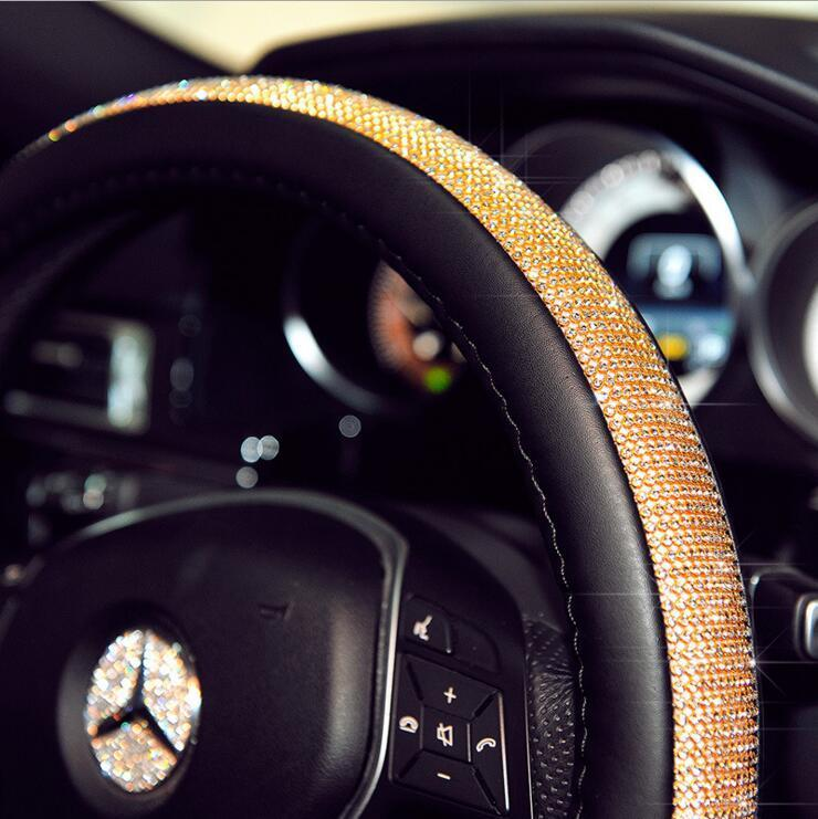 Swarovski-grade Crystal Steering Wheel Cover--YouniGoods