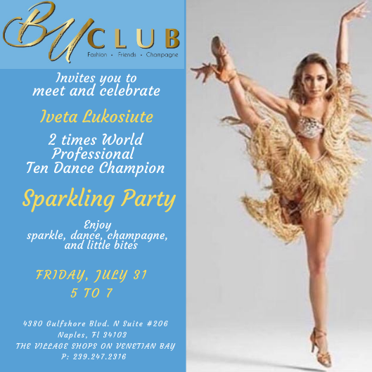 BU Club invites you to a Sparkling Party with the World Dance Champion Iveta Lukosiute!