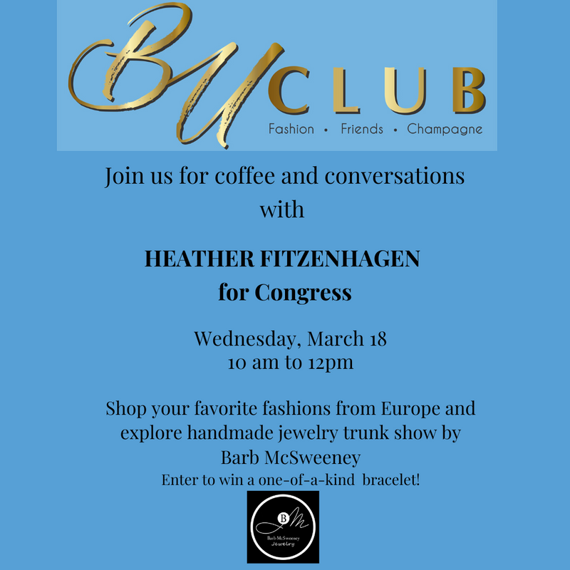 Join us for coffee and conversations with Heather Fitzenhagen -for congress