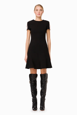Black Flared Short Dress