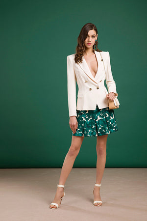 Ivory Blazer With Buttons