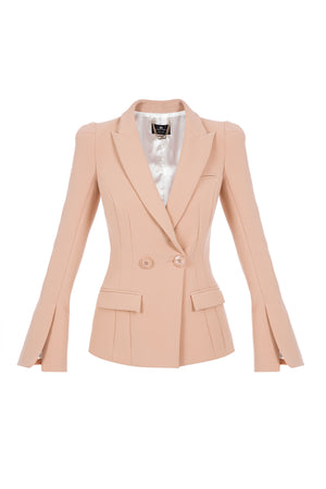 Dusty rose Jacket with a Slit on the Sleeves