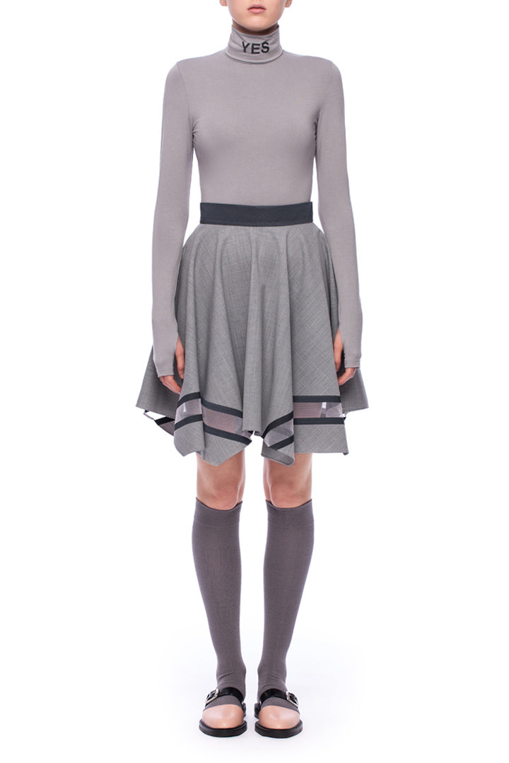 Grey Handkerchief Skirt